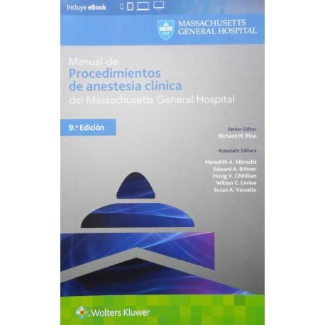 Manual de procedimientos de anestesia clínica del Massachusetts General Hospital - Envío Gratuito