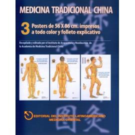 Medicina tradicional china 3 posters - Envío Gratuito