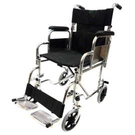 Silla de ruedas de traslado con respaldo plegable SP7002 - Envío Gratuito