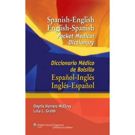 Spanish-English English-Spanish Pocket Medical Dictionary Diccionario Médico de bolsillo - Envío Gratuito