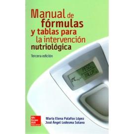Manual de Fórmulas y Tablas para la Intervención Nutriológica - Envío Gratuito