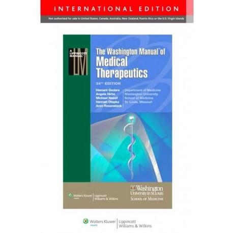 The Washington Manual of Medical Therapeutics - Envío Gratuito