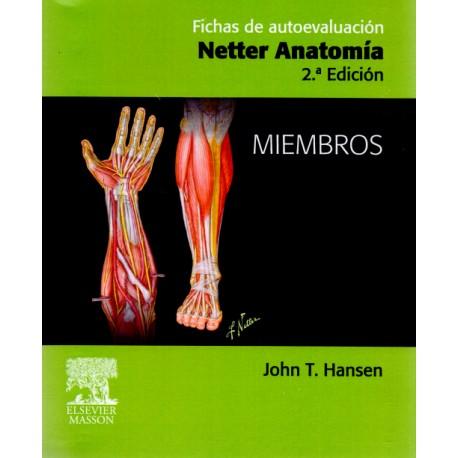 Fichas de autoevaluación: Netter anatomía. Miembros - Envío Gratuito